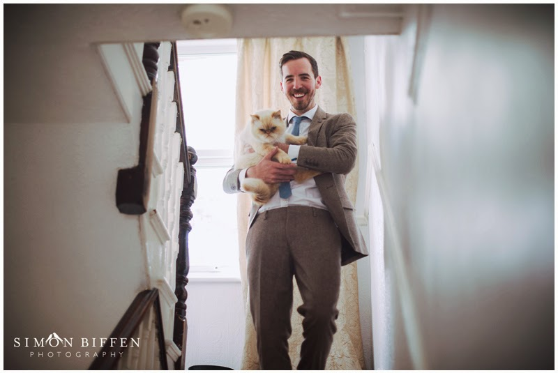 The groom and his cat
