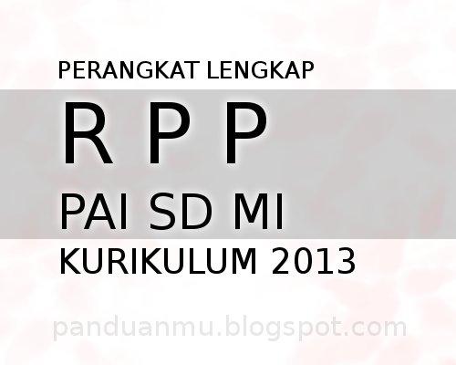 RPP PAI Kurikulum 2013