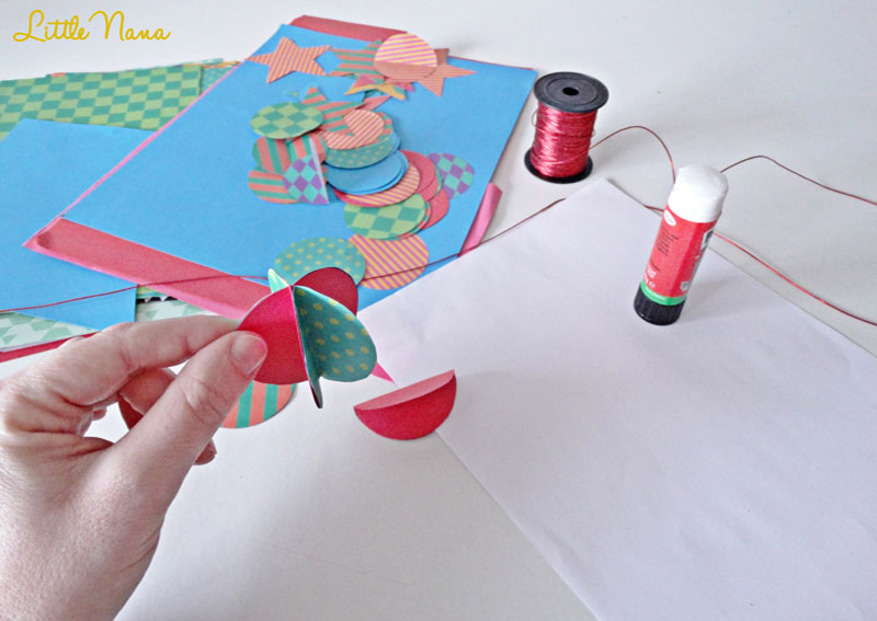 Diy guirnalda navidad 3D
