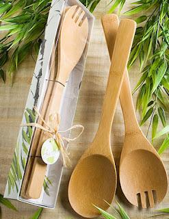 Cuchara y tenedor de bamboo