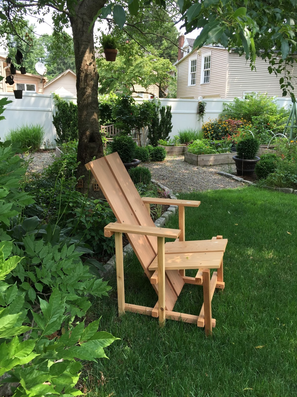The Best Part Of Building Your Own Garden Chair Is Getting To Relax And  Enjoy Sitting In It With A Refreshing Beverage After A Hard Day Of Weeding.