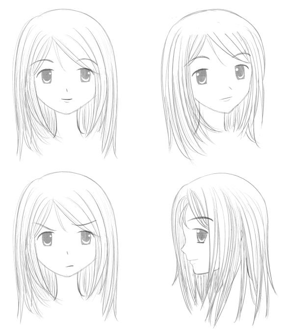 Anime Manga Girl Face