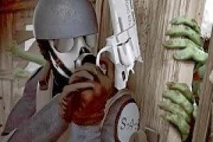 لعبة منزل زومبى والاعتداء على الجنود  اون لاين - العاب زومبى
