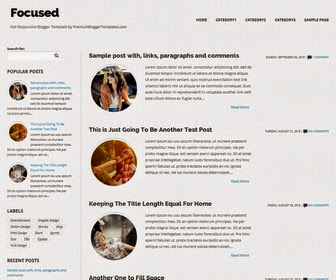 Focused Responsive Blogger Template