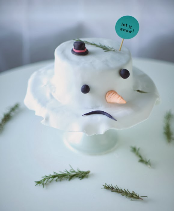 Melted Snowman Cake DIY