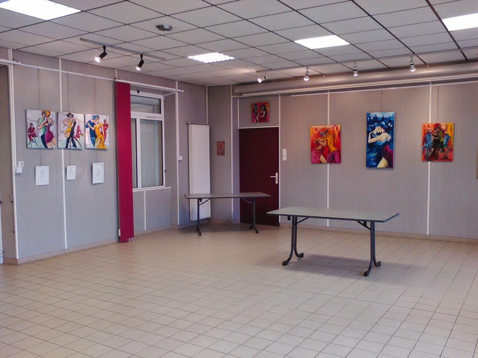 Vue Fond de la salle d'exposition