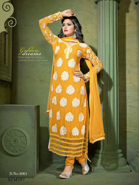 Latest Straight Georgette Long Salwar Kameez