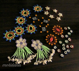 Riot of beaded motifs , beadweaving