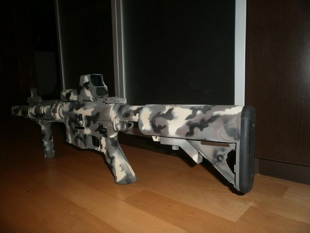 "M4 SD  D-Boys ""Pintura: EME - Custom, CAMO MULTILAND"" P1015958"