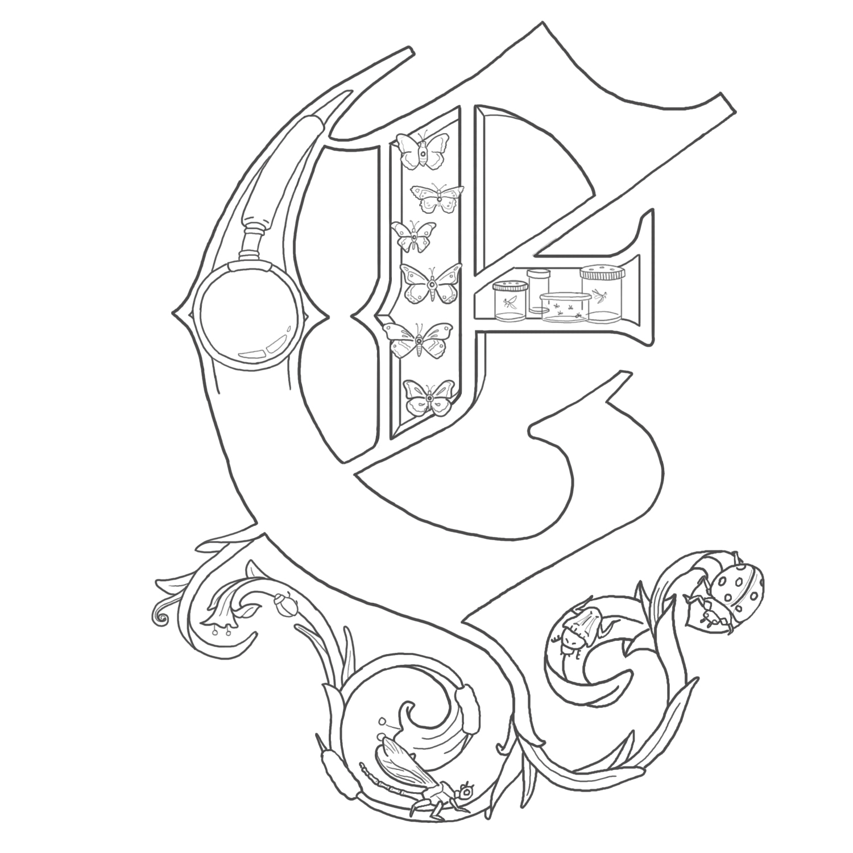 Illuminated Letter C Easy Alice stanne: illuminated letters