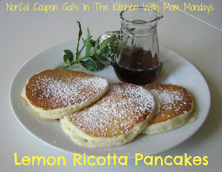 In The Kitchen With Mom Mondays: Lemon ricotta pancakes