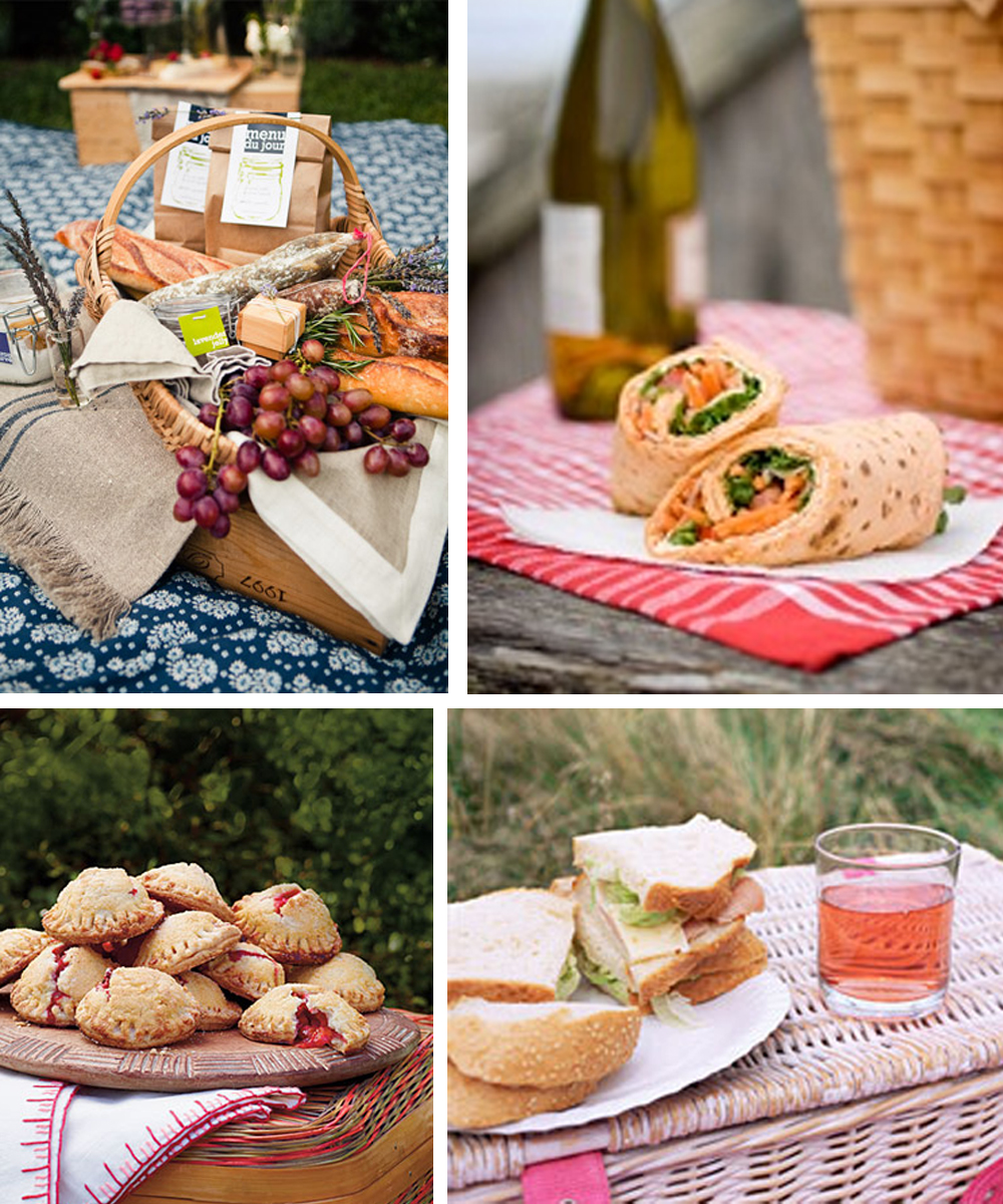 Sandwich picnic wedding