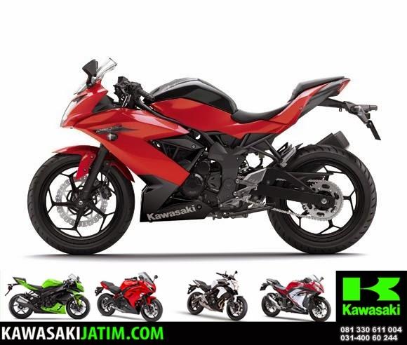 rangka ninja 250SL Mono red