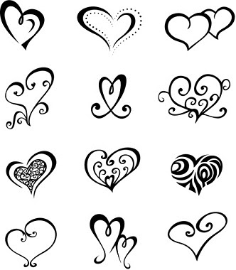 tonikum bayer simple heart tattoos designs