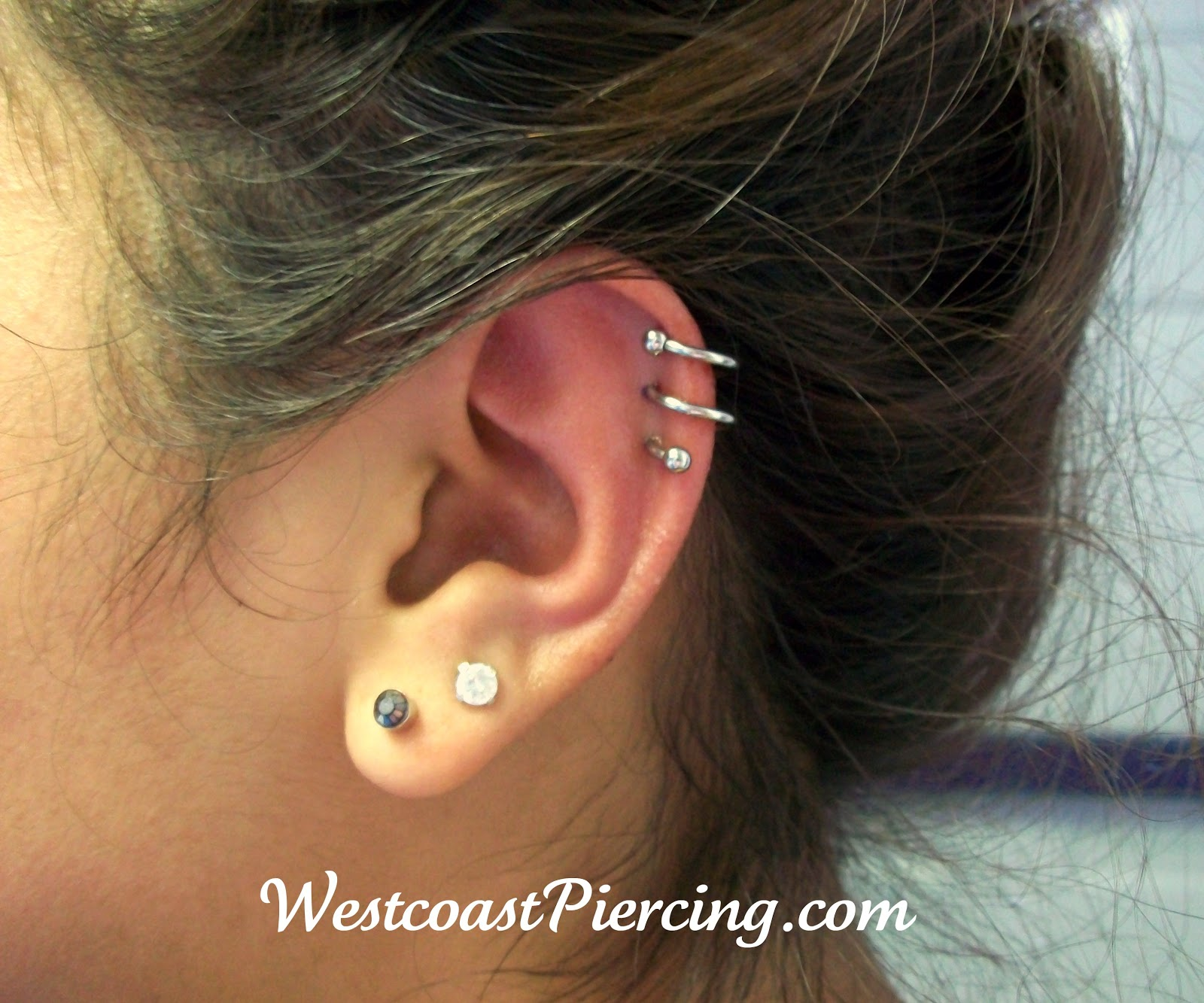 Westcoast Piercing And Ink Double Spiral Piercing
