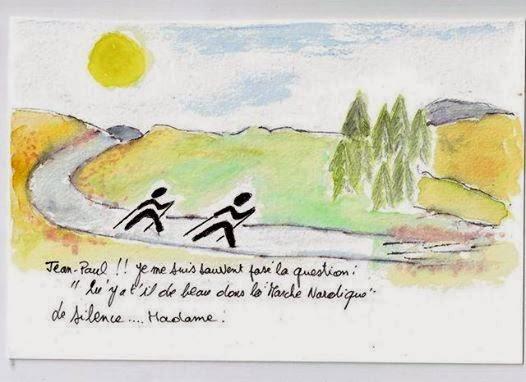 humour marche nordique  JP Morisot