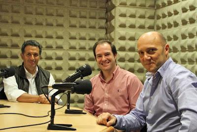 Miguel Ángel García Marinelli, Jonatan Gómez y Esteban Capdevila en el estudio de grabación del TURISMO PROFESIONAL. Blog Esteban Capdevila