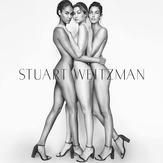 Stuart Weitzman - Joan Smalls Gigi Hadid & Lili Aldridge slay latest campaign