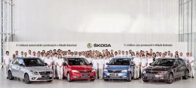 Unsprezece milioane de automobile Skoda