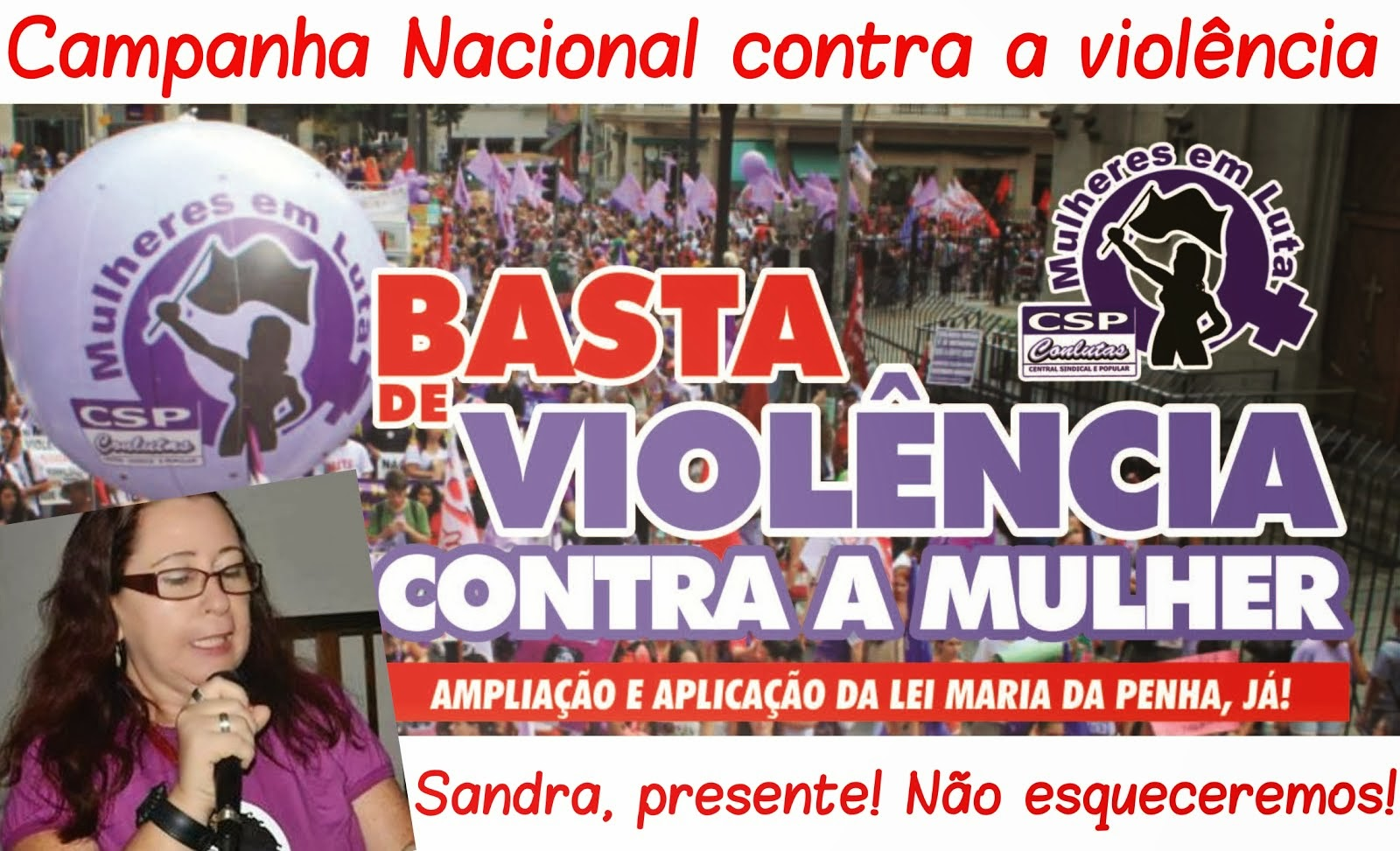 Campanha Nacional contra a violência à mulher trabalhadora