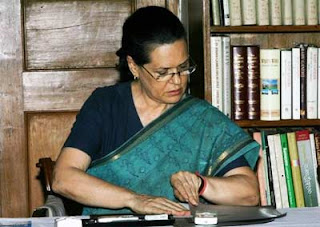 Sonia gandhi at work