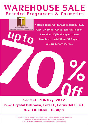 Branded Fragrances & Cosmetics Warehouse Sale 2012