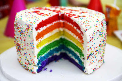 Cara Membuat Rainbow Cake