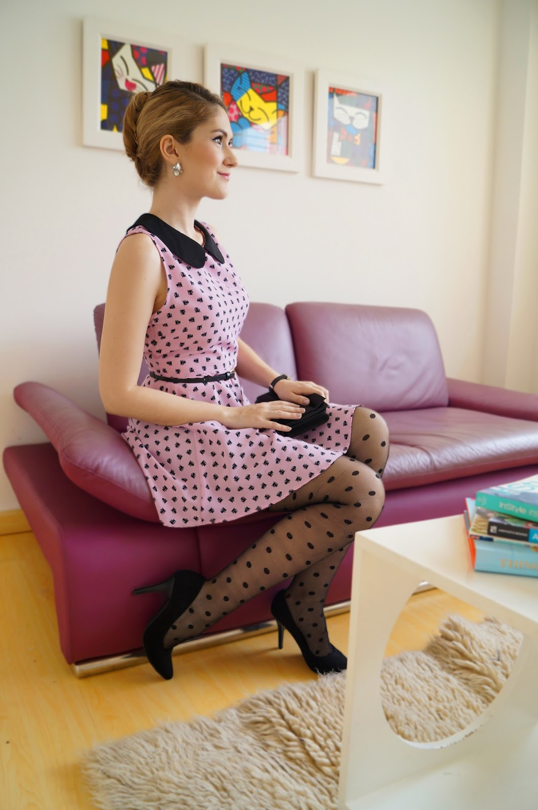 The Joy of Fashion: {Outfit}: Girly in Pink and Polka dot ...