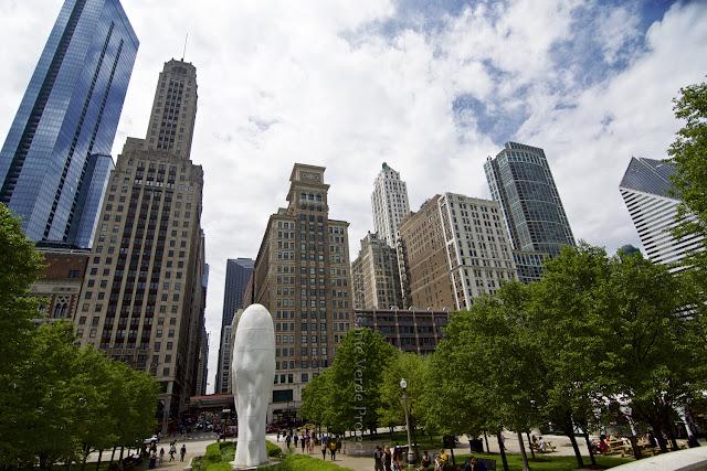 Michican Ave. y Madison St, Awilda en Chicago - Plensa por El Guisante Verde Project
