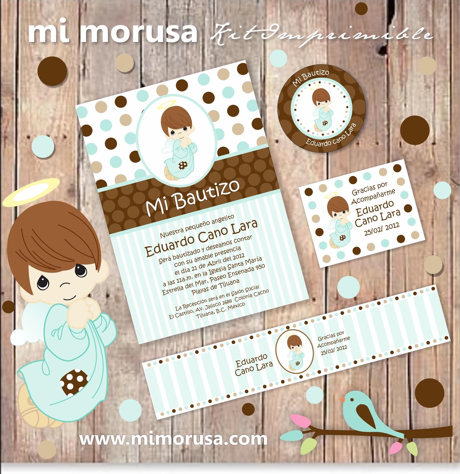 Pin Kit Bautizo Invitaciones Oraciones Sticker Angelito on Pinterest