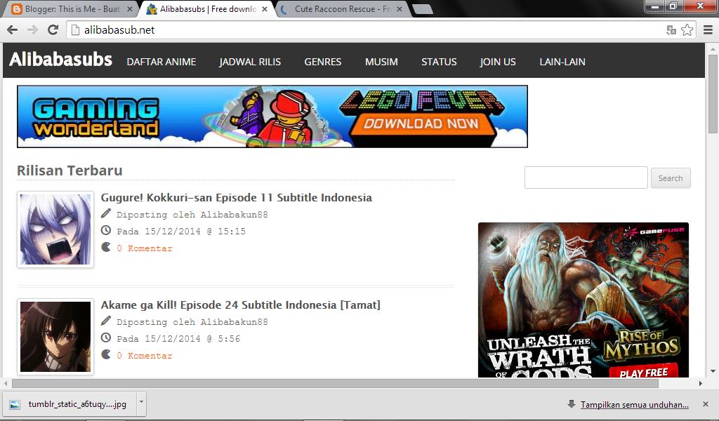 Web Download Anime Lengkap Subtitle Indo