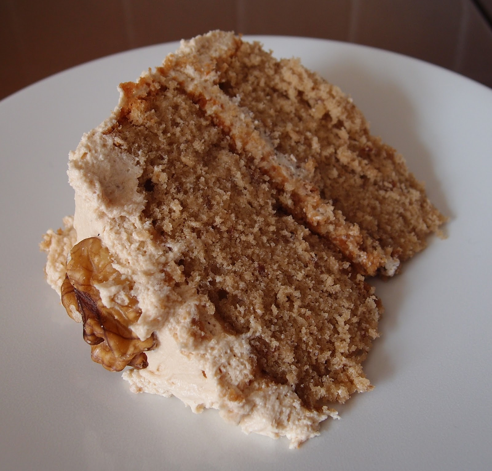 The Caked Crusader: Coffee and walnut cake – a birthday cake