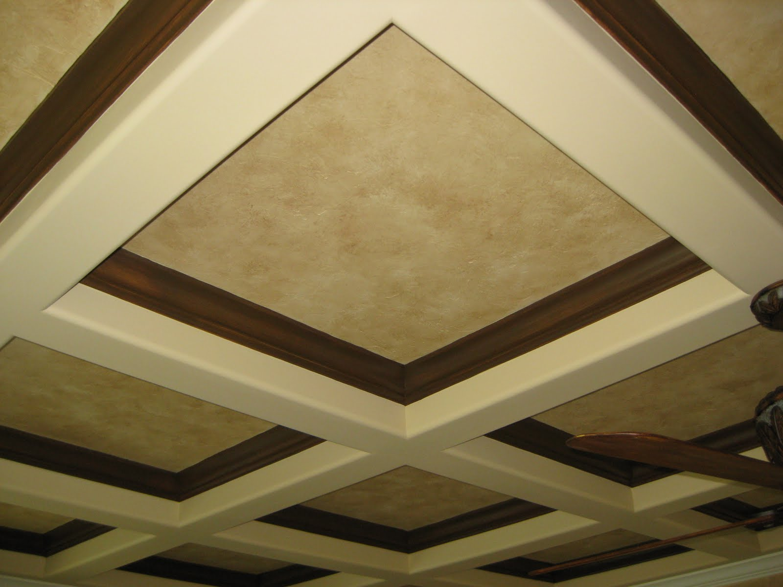 Coffered Ceiling Faux Painted