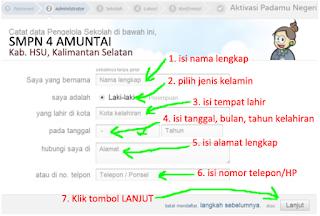 Cara Aktivasi Akun Operator Sekolah di situs untuk VerVal NUPTK 4