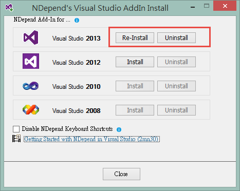 NDepend v5 Setup step 5