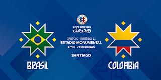 Brasil vs Colombia en vivo