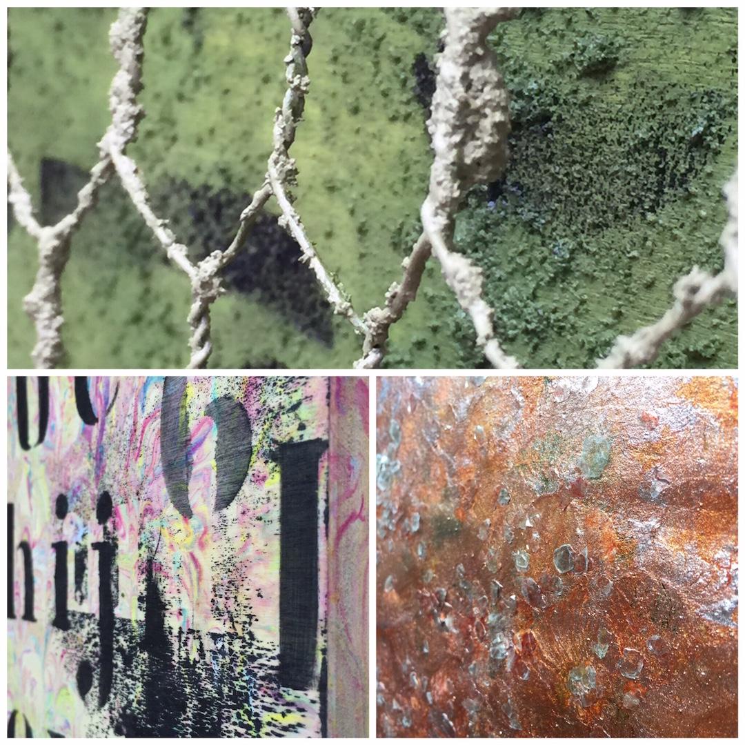 """Las Casitas de Papel:                        """"Texturas"""" Cuadros artísticos"""