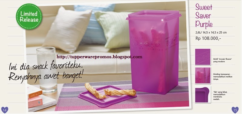 Sweet Saver Purple Tupperware - Toples Tupperware Ungu