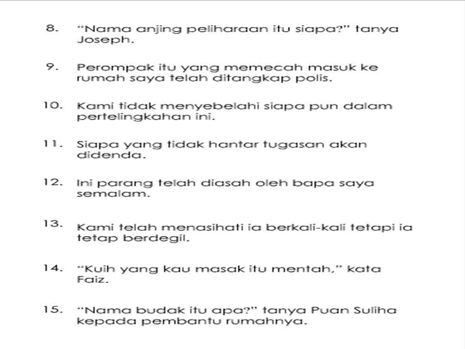 Soalan Ulangkaji Bahasa Melayu Tingkatan 1 Resepi Book B