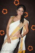 Actress Nivitha Glamorous photos in Saree-thumbnail-6