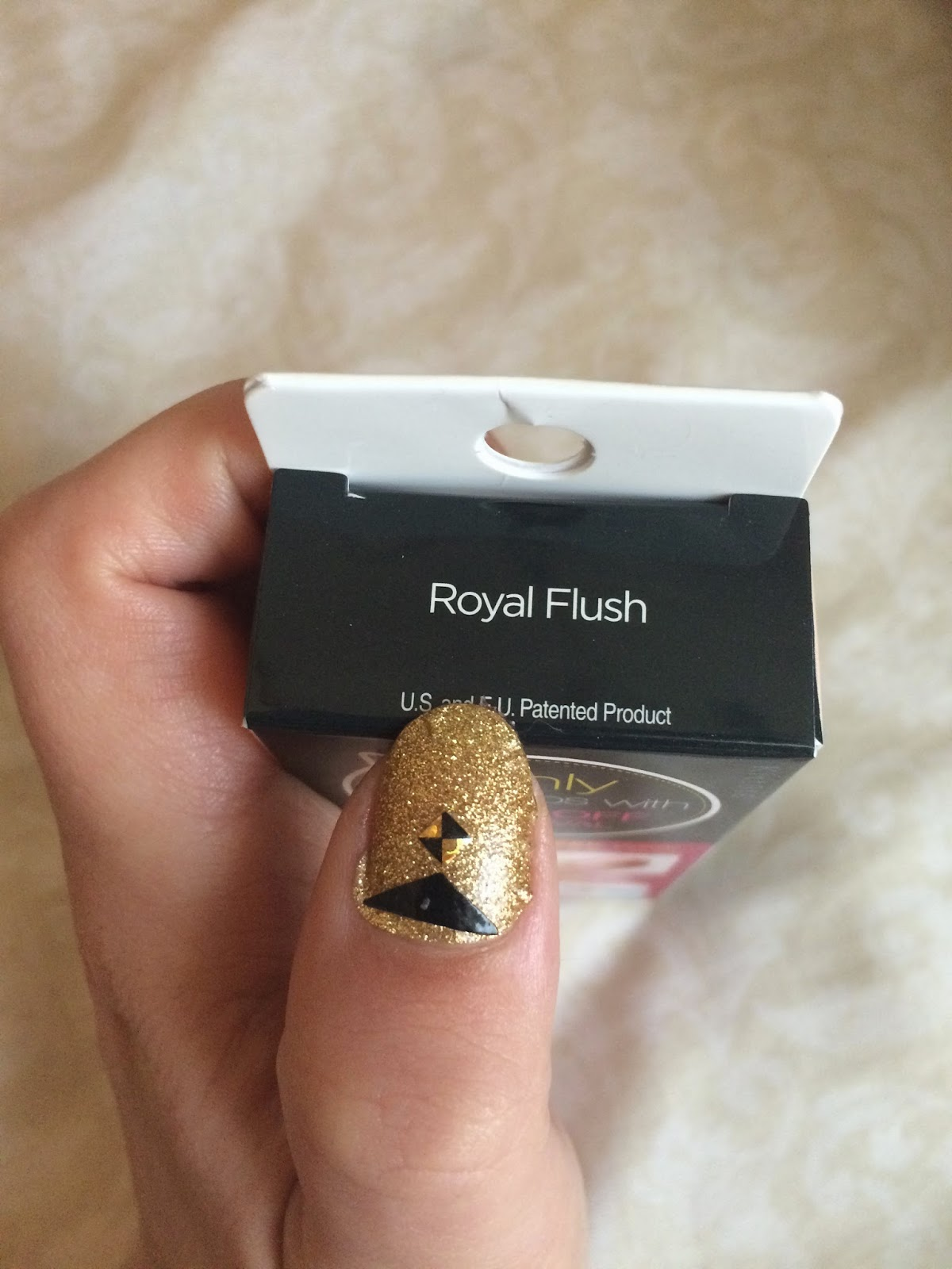 Review and Swatch: Kiss gel dress strips in Royal Flush