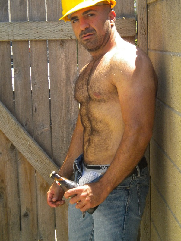 porn Hot construction worker