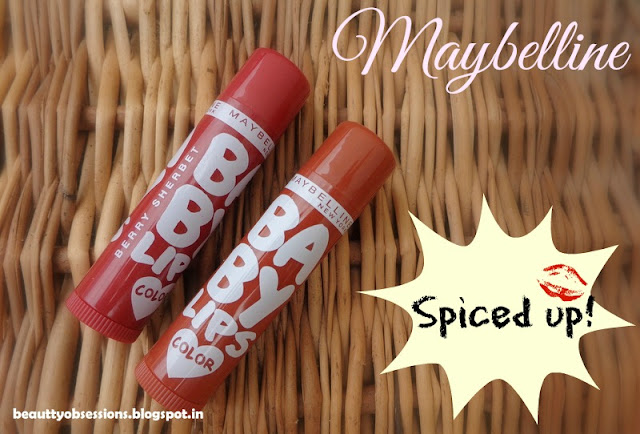 Maybelline Baby Lips Spiced Up Lip Balm - Berry Sherbet & Spicy Cinnamon ~ Review , Price