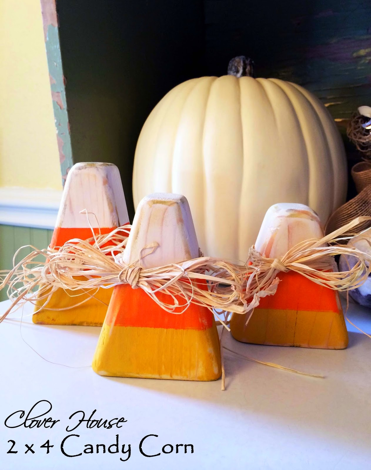 2x4 Candy Corn Tutorial, shared by Our Clover House