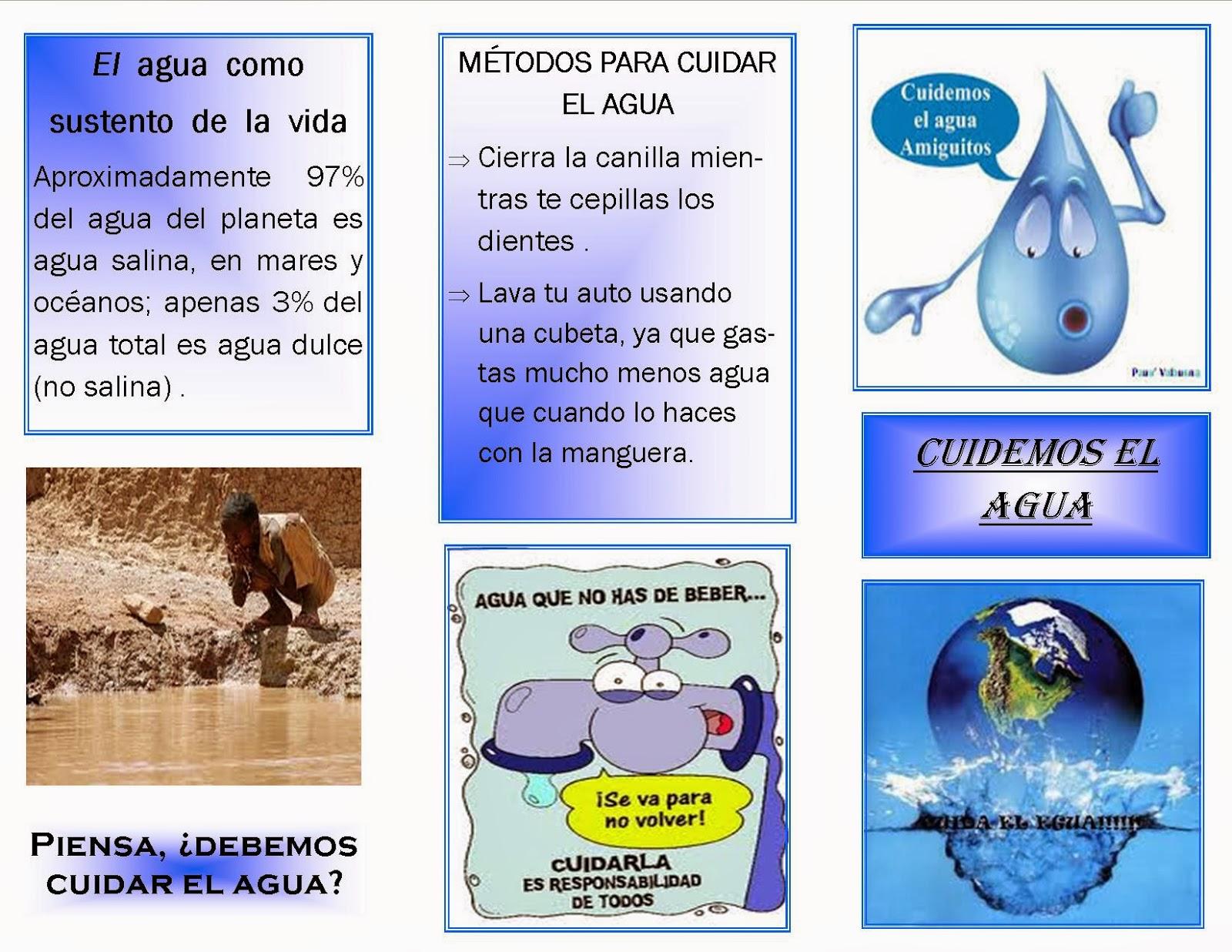 Agua: fuente de vida : Folletos publicitarios