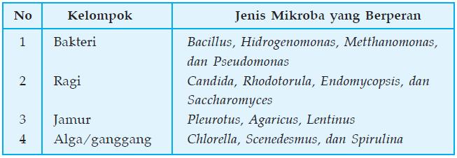 Jenis mikroba penghasil pst