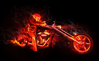Papéis de Parede motoquiro fantasma Clqiues Diversos