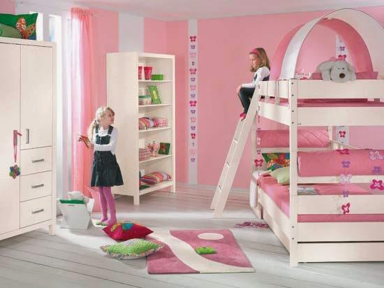 tempat tidur 2 tingkat anak perempuan
