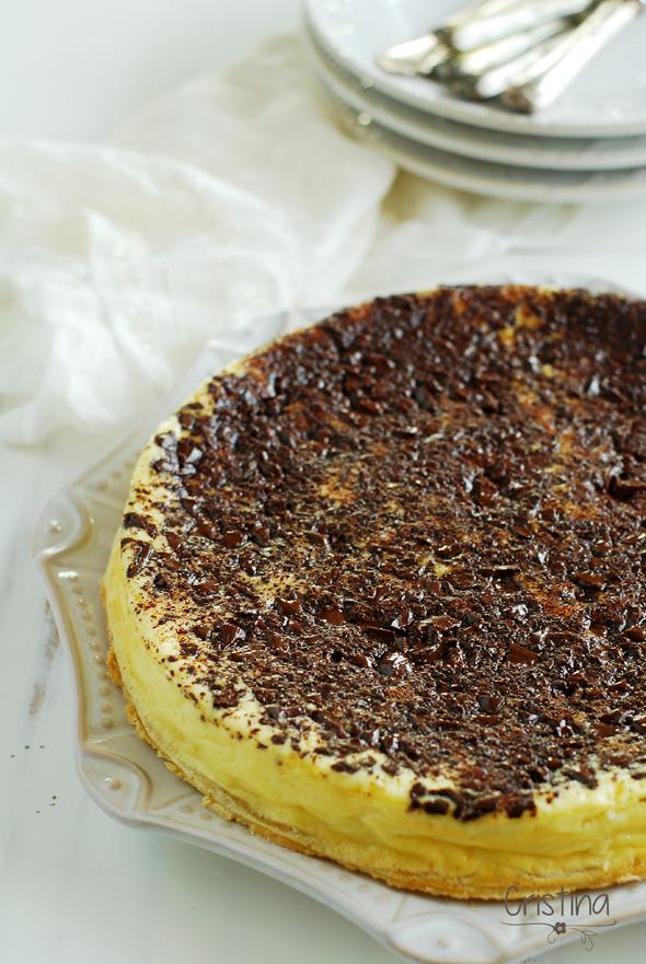 Tarta de queso con chocolate al limón