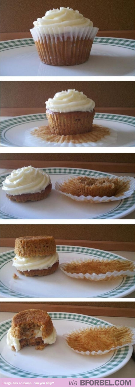 Tips & Tricks: The Right Way to eat a Cupcake